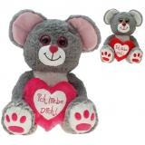 Plüsch Maus Michele 15 cm mit Herz