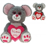 Plüsch Maus Michele 30 cm mit Herz