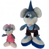 Plüsch Maus Maxl und Rosi 75 cm