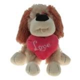 Plüsch Hund mit Herz Karli 23 cm