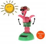 Solar-Figur Wackelfigur Flamingo 11 cm