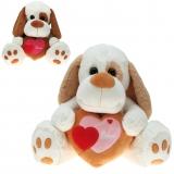 Plüsch Hund mit Herz  Hauke  35 cm