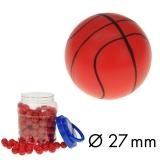 Flummi 27 mm Basketball im Behälter