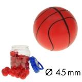 Flummi 45 mm Basketball im Behälter