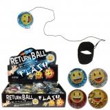 LED Returnball 65 mm Glitterball + Smiley