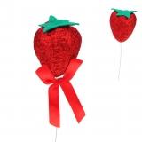 Dekoartikel / Abschießer Erdbeere 20 cm