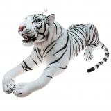 Plüsch Tiger mit offenem Maul weiß  110 cm