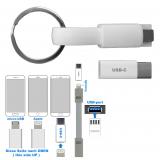 USB Ladekabel an SK  3 in 1  nur weiß