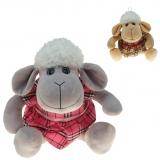 Plüsch Schaf mit Kleid Karo 20 cm