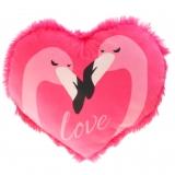 Plüsch Herz Flamingo-Love Pink 15 cm