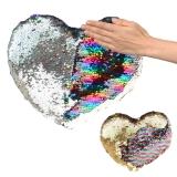 Plüsch Herz mit Pailletten Glamour  30 cm