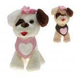 Plüsch Hund mit Halstuch Paula 20 cm