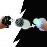 LED- Knautschball - Quetschball Black + White 120gr.  6 cm