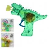Seifenblasenpistole Dino-Gun mit Lichteffekt