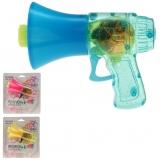 Seifenblasenpistole Megaphone mit LED Licht