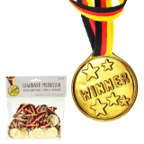 Kunststoff Medaillen Set Gold 34 cm