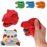Quetschball Dinosaurier Kopf, 4-fach sortiert