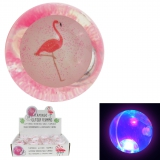 LED Glitzer Flummi Flamingo 65 mm