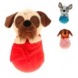 25 cm Hund im Handtuch 3-fach sortiert