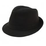 Fedora Hut schwarz Gangster, mit schwarzem Band