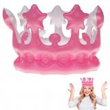 Aufblasbare Krone Pink 23 cm