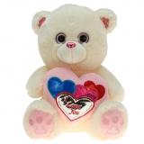 Plüsch Bär mit Herz Chrom Pink 30 cm
