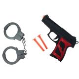 Pfeilpistole mit 2 x Dartpfeilen + Handschellen