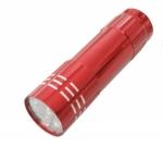 Taschenlampe Lichtkraft Alu Lite Rot  9 LEDs