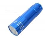 Taschenlampe Lichtkraft Alu Lite Blau  9 LEDs